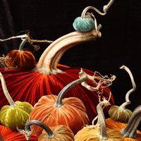 Velvet pumpkins...perfect for fall weddings