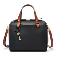 This rubberized leather satchel comes with detachable handles and interchangeable straps that make hauling your essentials easier.*Will be shipped separately from other products