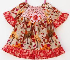 Giving Thanks Fall Fox Dress by LemonDoozyLane on Etsy