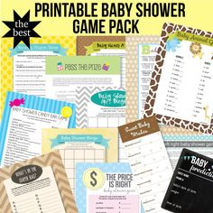 Printable baby shower game pack! Yay!