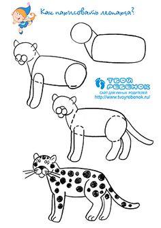 Hoe teken je een luipaard