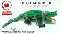 Lego Creator, The Creator, Shark Lego, Lego Models, Baby Shark, Lego City, Diy Toys, Bricks, Crocodile