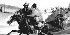 Rugendas, Mauricio. Hombre y mujer cabalgando, siglo XIX. Biblioteca Nacional. Archivo Fotográfico y Digital. Colección: Memoria Chilena. Identificador MC0004041.