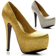 Glitter Womens Platform Pumps High Heels Bridal Wedding Evening Party Shoes   eBay