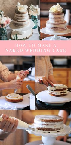 WEDDING // PART TWO: OUR NAKED WEDDING CAKE