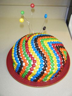 M&M Cake Recipe - Rainbow Food Recipes....making for mom's bday! lol