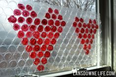 Hearts, you could make your own window decorations.