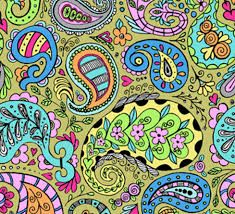Image result for colorful paisley designs