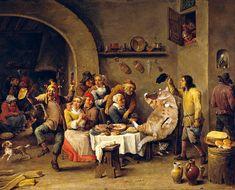 Twelfth Night (The King Drinks) by David Teniers (1634-1640)