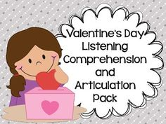 """Talk about a versatile pack! Target listening comprehension skills and articulation with this activity that includes 12 """"Valentine's Day"""" stories with listening comprehension questions and a list of targeted speech sounds. Targeted sounds include /r/, /s/, /l/, /sh/, /ch/, and /th/!"""
