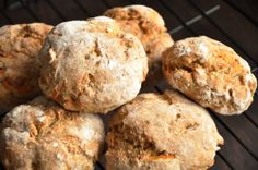 Rye carrot biscuits