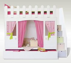 Dream Bedroom, Girls Bedroom, Bunk Bed Decor, Sister Room, Boy Girl Room, Old Room, Living Room Shelves, Playroom Decor, Cool Rooms