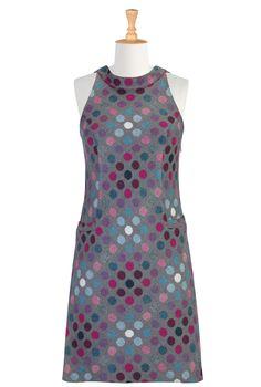 eShakti Women's Mod dots wool dress