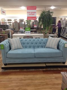 Home Goods Blue Chesterfield