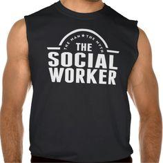 The Man The Myth The Social Worker Sleeveless Tees Tank Tops