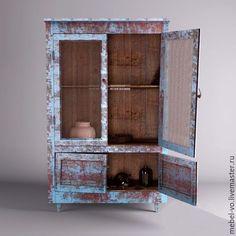 Vintage wooden cupboard / Мебель ручной работы. Ярмарка Мастеров - ручная работа. Купить Шкаф с эффектом состаривания. Handmade. Старый шкаф, лофт