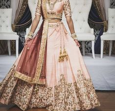 Indian Wedding Gowns, Indian Bridal Outfits, Indian Dresses, Bridal Dresses, Wedding Outfits, Pakistani Dresses, Indian Reception Outfit, Simple Lehenga, Indian Look