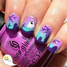 halloween by _nailsbymeg #nail #nails #nailart