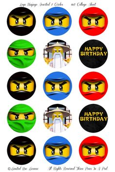 Instant Download Lego Ninjago Assorted Ninjas Party