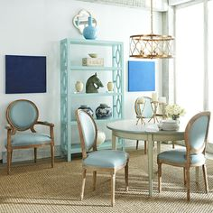 Wisteria - Furniture - Shelves - Contemporary Bookshelf -- turquoise or English lilac are nice