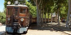 Train from Soller to Palma, since 1912, Mallorca.