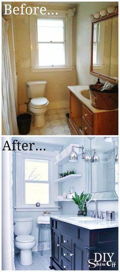 Bathroom Before And After Diy Show Off Diy Decorating And Home Improvement Blog Bathrooms Remodel Room Renovation Bathroom Makeover