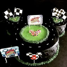 Mickey Mouse Road a Racers themed Happy Birthday Cake