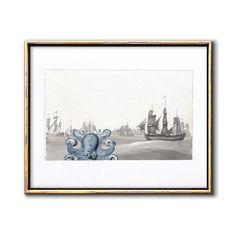 Kraken Nursery Octopus Nautical Wall Decor Printable – Chaos & Wonder Design