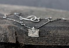 Textured Sterling Silver Pendant Necklace by ElementalForge