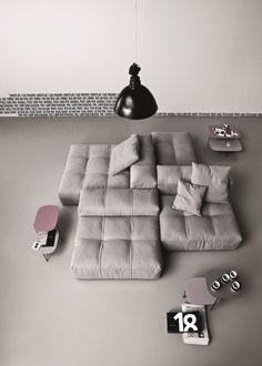 PIXEL Fabric sofa by Saba Italia design Sergio Bicego Modular Furniture, Sofa Furniture, Modern Furniture, Furniture Design, Luxury Furniture, Sofa Design, Design Design, Design Trends, Design Ideas