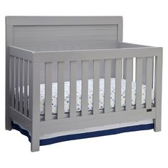 With its timeless and traditional look, the Rowen Crib 'N' More from Simmons Kids® is sure to become an heirloom. Boasting a full back panel with thick molding all around and airy slats, plus a strong and sturdy design that's JPMA certified, this tailored piece will provide a safe and stylish sleeping environment. Even better, it grows with your child, easily converting from a multi-positional crib with three mattress height adjustments to a daybed, toddler bed and full ...