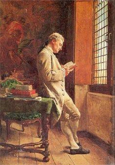 iamamybooboo:The Reader in White by Ernest Meissonier