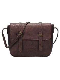 Brown Magnetic Buckle PU Satchel Bag                                                                                                                                                                                 More
