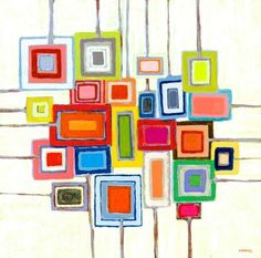 GreenBox Art Lollipops by Andrew Daniel Painting Print on Wrapped Canvas Canvas Wall Art, Canvas Prints, Quilt Modernen, Ecole Art, Square Art, Contemporary Wall Art, Art Abstrait, Art Plastique, Painting Prints