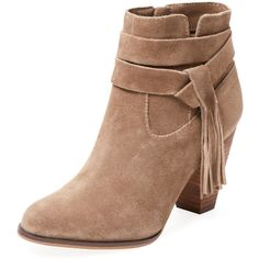 Steven by Steve Madden Women's Barklay Ankle Bootie - Cream/Tan - Size... ($89) ❤ liked on Polyvore featuring shoes, boots, ankle booties, tan boots, leather bootie, tan leather boots, leather booties and leather ankle booties