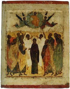 The Ascension.  Andrei Rublev. First half of the 13th century.