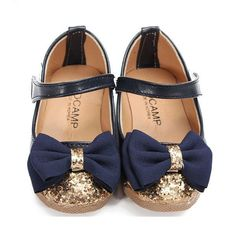 Toddler Baby Girl PU Leather Kids Mary Jane Flats Party Dancer Casual Art Bowknot Dress Flounce Prin