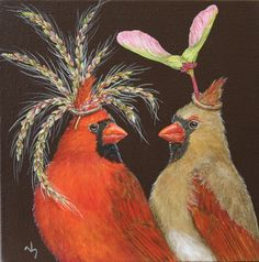 ALIAS board member Ron York is hosting a Holiday Art Event on Sunday, November at York and Friends Fine Art, at 107 Harding Place. Fantasy Kunst, Fantasy Art, Bird Illustration, Art Party, Whimsical Art, Bird Art, Animal Paintings, Love Art, Painting & Drawing
