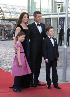 Royal Couple together with HRH Prince Christian and HRH Princess Isabella arrives at the Concert Hall.