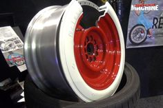 We've seen whitewall tyres, but a whitewall alloy rim? Sounds crazy but it might actually work Rims And Tires, Rims For Cars, Wheels And Tires, Car Wheels, 20 Rims, Vintage Pickup Trucks, Classic Ford Trucks, Classic Cars, Custom Rat Rods