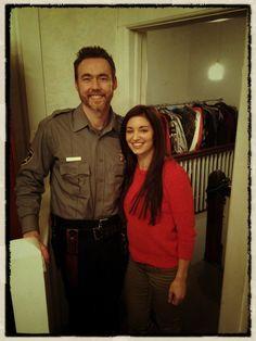 Bianca Kajlich on Jellibug - The Sheriff & his old lady. #DarkWasTheNight