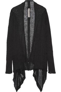 Rick Owens - Open-knit Alpaca-blend Cardigan - Black