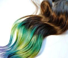 Multicoloured hair