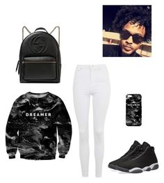 """""""August Alsina Concert: Dreamer"""" by jataviawade ❤ liked on Polyvore featuring Mr. Gugu & Miss Go, NIKE, Topshop and Gucci"""