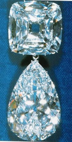 The Cullinan. Queen Mary turned two of the Cullinan stones into a brooch in 1910. The total weight of this piece is around 158 carats!!! Needless to say, it is enormous, and the most valuable item the Queen owns.