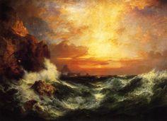 Thomas Moran, Sunset near Land's End, 1909.