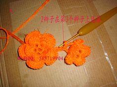 转载:美得炫目的花朵围巾(12月21日二排花的教程和图解全部上完) - 美玲 - 只是属于我的悠闲
