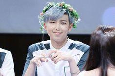 BTS Rap Monster with flower crown #bts
