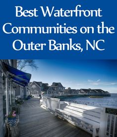 The Outer Banks has so many types of waterfront properties; not only sound front, canal front, oceanfront and even lakefront. #OuterBanks #OBX #OBXRealEstate #Waterfont #BeachLiving #RealEstate #CoastalLiving www.eillu.com