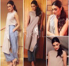 Athiya shetty # formal casual look # fusion look